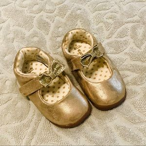 Like new ** Gold Carter's Shoes- size 4